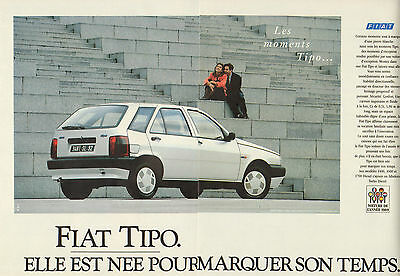 2 Pages Fiat Tipo Publicité Advertising 1990