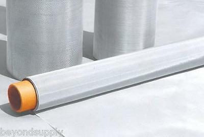 """150 Micron Stainless Steel 100 Mesh 316L Woven Wire filtration  Screen 12""""x48"""""""