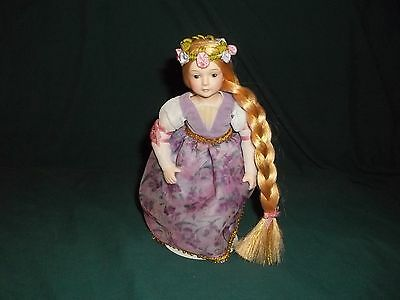 "BEAUTIFUL 7"" ""RAPUNZEL"" PORCELAIN DOLL w/Stand"