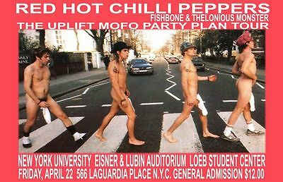 Red Hot Chilli Peppers Replica 1995 Concert Poster