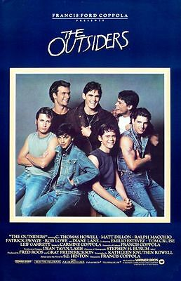 The Outsiders Replica 1983 Movie Poster