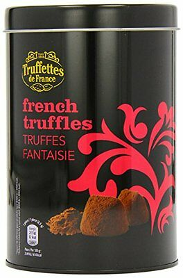 Chocmod French Chocolate Truffles Dusted with Cocoa Powder in a Gift Tin 500g