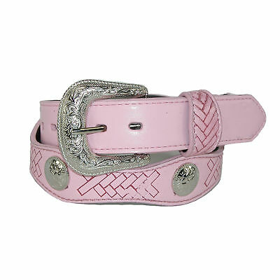 New Rogers-Whitley Girls' Scallop Cut Western Belt with Conchos