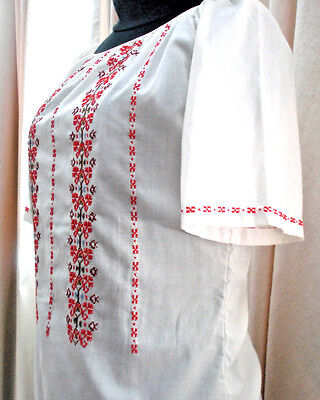 Vintage Serbian Women's Embroidered Blouse