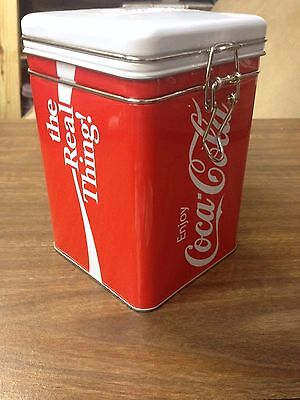 2012 Coca-Cola Tin Box Canister Storage Container