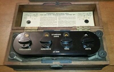 Vintage Eversheds & Vignoles  Direct Reading Resistance Box in good condition