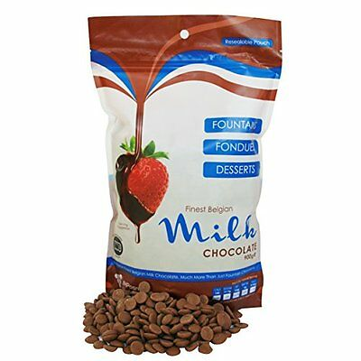 Finest Belgian Milk Chocolate Bag 900g - Suitable for a Chocolate Fountain or De • AUD 40.30