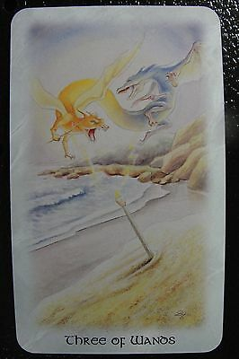 Three of Wands The Celtic Dragon Tarot Single Replacement Card Excellent