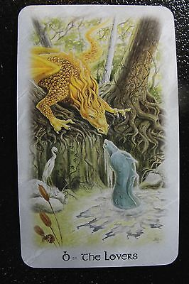 6-The Lovers The Celtic Dragon Tarot Single Replacement Card Excellent