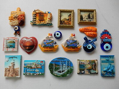 One Selected mostly 3D Souvenir Fridge Magnet from Turkey