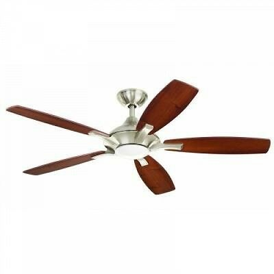 Home Decorators Petersford 52 In. Brushed Nickel LED Ceiling Fan