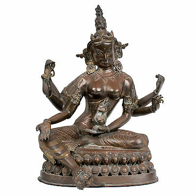 Nepal 20. Jh. Große - A Nepalese Bronze Figure Of Tara - Scultura Népalaise