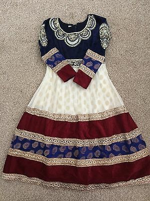 Girls Asian Wedding Clothes Dress Size 26 (5-6 Years)
