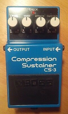 Boss CS-3 Compression Sustainer - Guitar Effects Pedal Compressor FX - Stompbox
