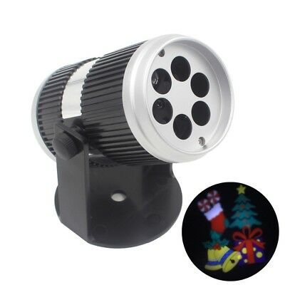 Rotating LED Laser Stage Projector Spotlight Sound control Christmas Party DJ KT