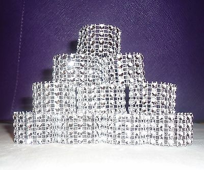 Silver Bling Rhinestone Napkin rings lot of 10 – 100, Bridal Shower Party Deco