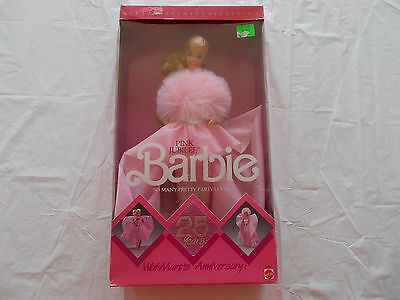 Rare Vintage 1987 25th Anniversary Wal-Mart Pink Jubilee Barbie-Limited(#4589)