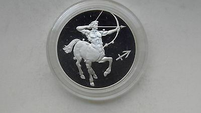 2002 Russia 2 Roubles Sagittarius Silver Proof coin