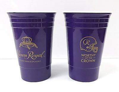 Crown Royal..reusable..two Tailgate 2.8 Oz Weight Heavy Plastic Cups..new!!
