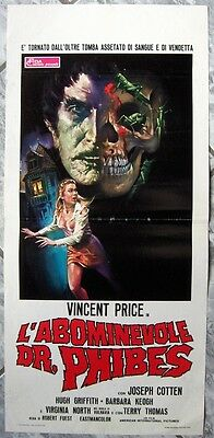 locandina ABOMINEVOLE DR.PHIBES Abominable Vincent Price og Italy 1972