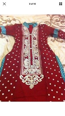 Stunning Asian Pakistani Indian Designer Dress For Parties And Weddings REDUCED