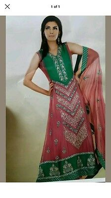 Asian indian pakistani designer wedding party Wear anarkali dress suit