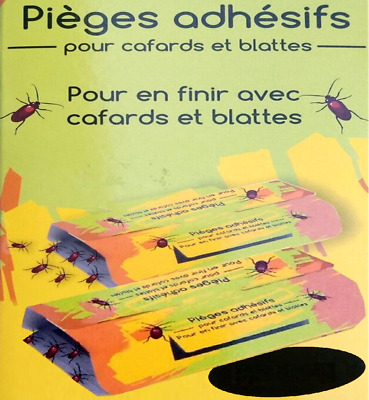 Lot de Pièges Anti Cafards blates insectes Professionnel glue colle insecticide