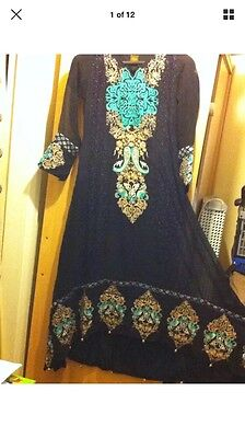 Stunning Asian Pakistani Indian Designer anarkali Dress - Wedding Party  REDUCED