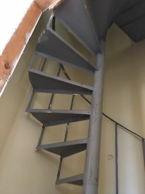 Spiral Staircase 3000 High X 1100 Wide Steel