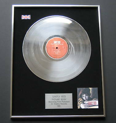 SIMPLY RED Picture Book PLATINUM LP Disc Presentation