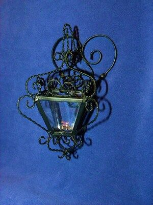 Rare French Wrought Iron Miniature Lantern