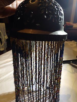 Vintage Moroccan Antique Beaded Bronze Light Sconce
