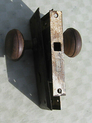 Antique Steel Lockset Mortise Takes Skeleton Key 5 3/8 x 7/8 Plate