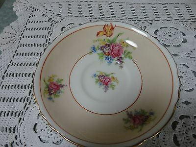 China Orphan Replacement Paragon Cottage Bouquet Vintage China Saucer