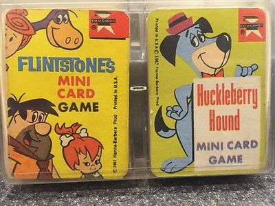 Vintage 1965 1967 Ed-U-Cards Mini Card Games Huckleberry Hound Flintstones
