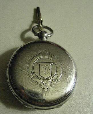 ANTIQUE SOLID SILVER FUSEE Pocket Watch. E. J. Hollins 1902 LONDON