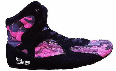 Rasslin' Artemis Youth/Kids Wrestling Shoes pink camo camoflauge girls/boys