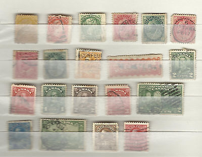 Lot de timbres ancien Canada
