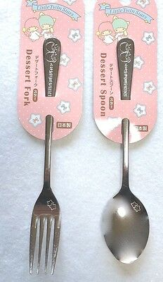 SANRIO Little Twin Stars KAWAII Dessert Spoon and fork F/S AIRMAIL Made in JAPAN