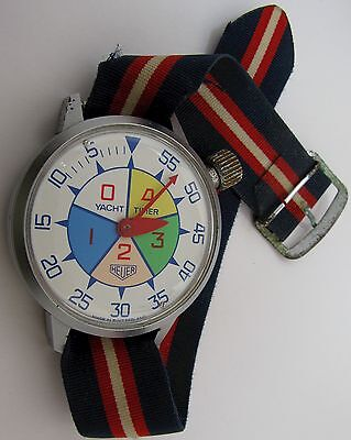 """Heuer Yacht Timer """"Watch"""" 7 jewels 5 minutes register for regatta or races  ..."""
