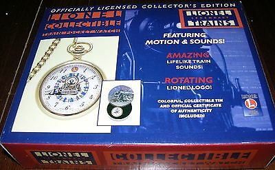 Lionel Trains Collectible Train Pocket Watch 1998 Issue W/collectible Tin & Box