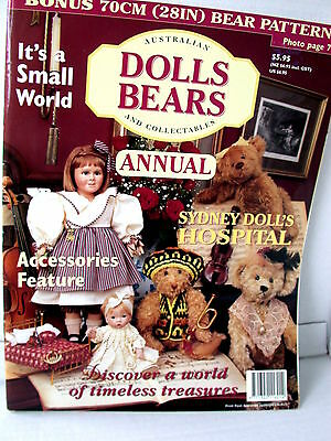 AUST DOLLS BEARS  & COLLECTABLES ANNUAL  techniques tips ideas  VOL  4   NO 2