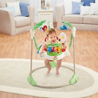 Jumperoo Fisher Price Rainforest Baby Seat Jumper Bouncer Activity Free Shipping