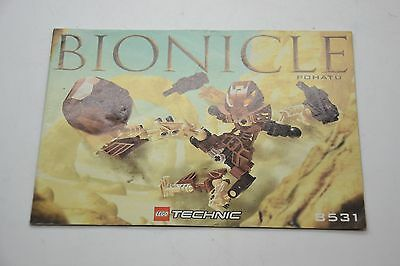 Lego Bionicle Pohatu 8531 Instruction Manual Book Booklet Only