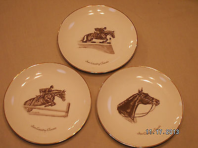 Vintage Set Of 3 Southgate Sun Country Classic Steeple Chase Plates