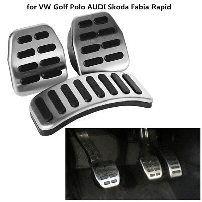 3Pcs Stainless Steel Pedals Pads Set MT LHD for AUDI A1 A2 A3 TT Coupe 8N