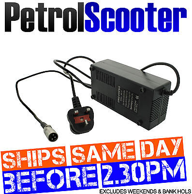BATTERY CHARGER 48 Volt Electric E Scooter 48v Scooters Bike 3 Pin UK Plug 3 Amp