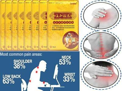 8 Packs of 8 Sumifun Deep Heat Tiger Balm Chinese Pain Relief  Plaster Patches