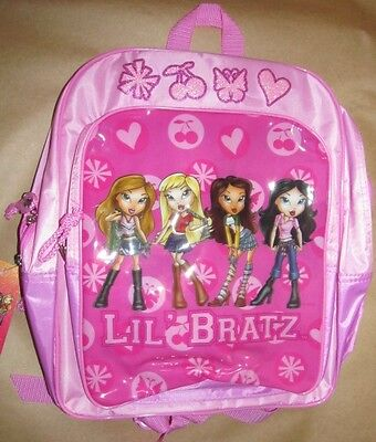 "New Nwt Cartoon Anime Mga Lil' Bratz School 16"" Backpack Zipper Closure Book Bag"