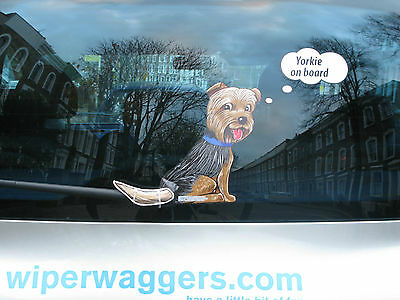 Yorkshire Terrier 'yorkie' Dog Lover Novelty Gift For Your Car Rear Wiper